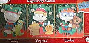 Rugrats Toy Makers Rug Rats Carlton Ornament Cxor-300y Tommy Angelica Chuckie 98 Nic