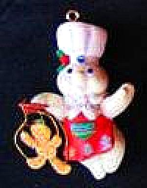 1995 Poppin' Fresh Christmas Pillsbury Dough Boy ORN-097M ORN097M #71 Gingerbread Pup (Image1)