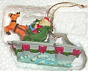 Carlton Agc Christmas Aweigh Ornament Operation Santa First #1 6-80-321 Navy Carrier