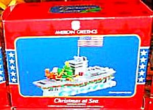 CHRISTMAS AT SEA 2005 Aircraft Carrier Operation Santa #10 MMORN-008N American Greeti (Image1)