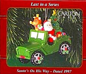 1997 SANTA'S ON HIS WAY PX ONLY OPERATION SANTA Jeep Military Patriotic Last - Series (Image1)