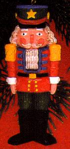 1990 102327-6 The Nutcracker Traditional Soldier Red Coat & Green Pants Resin