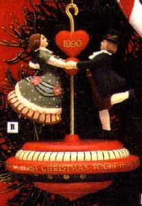 1990 102370-5 First 1ST Christmas Together : Wonderland Waltz Red Top  Twirling (Image1)