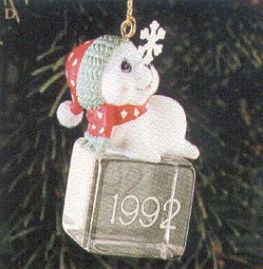 Ice Pals 1992 120483-1 #1 fuzzy seal on ice cube balances snowflake First (Image1)
