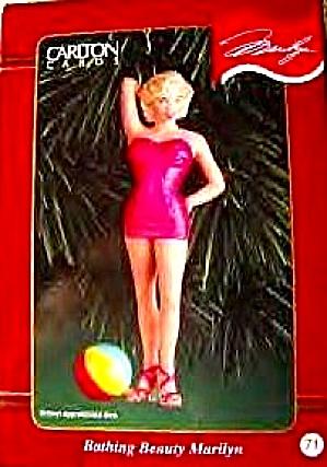 99 Bathing Beauty Marilyn CXOR-071C #71 Carlton American Greetings G.I.Pinup CXOR071C (Image1)