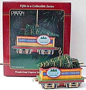 2000 Cxor-097c #5 Wonderland Express Series Dated 94 Polar Tree Farm Car Cxor097c
