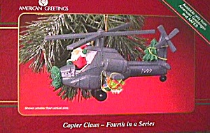 1999 MMORN902 COPTER CLAUS #4 Anniversary Santa Chopper Presents Tree Tied Down (Image1)