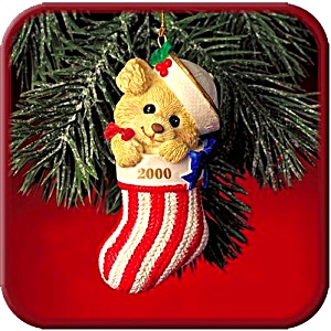 2000 Mmorn1008 Xmas Joy,ahoy Navy Squid Sailor Baby Bear Patriotic Stocking Aafes