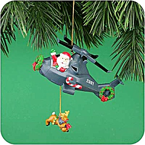 JOLLY CHOPPER #6 MMORN1001E Helicopter Reindeer OPERATION SANTA 2001 Commanche Apache (Image1)