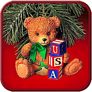 2000 MMORN1003 YOURE IN THE ARMY NOW BABY Camo Diaper Bear USA Blocks Operation Santa (Image1)
