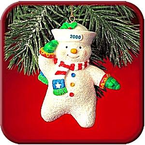 '00 MMORN1006 Salty The Snowman Saluting Sailor 5th Anniversary Operation Santa Squid (Image1)