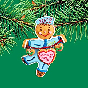 2002 MMORN-005G CUT OUT FOR CHRISTMAS DUTY 7th Anniv. Operation Santa Gingerbread Man (Image1)
