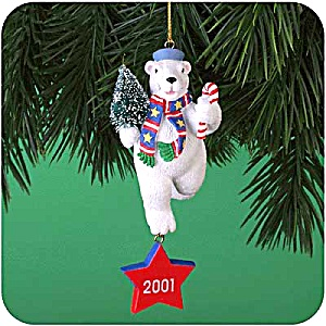 Mmorn-1011 Merry Conduct Medal 6th Anniv. Operation Santa White Polar Bear Navy 2001
