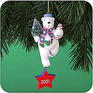 MMORN-1011 MERRY CONDUCT MEDAL 6th Anniv. Operation Santa White Polar Bear Navy 2001 (Image1)