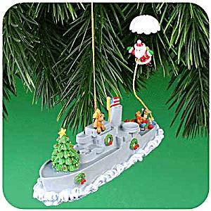 2001 MMORN-1002E CHRISTMAS AT SEA 6TH IN SERIES OPERATION SANTA Parachute Navy (Image1)