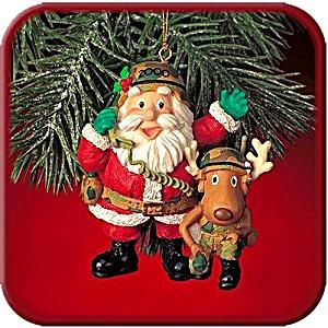 2000 MMORN1009 CALLIN' HOME FOR CHRISTMAS Camo Santa Reindeer Radio Phone North Pole (Image1)