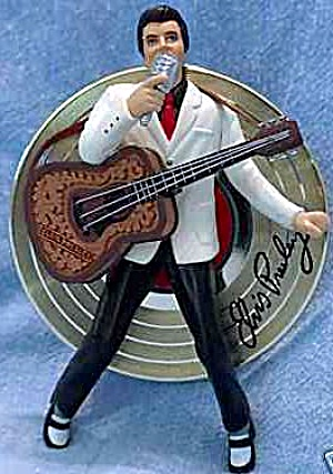 1995 CARLTON ELVIS #1 MUSICAL ORN073M NRFB MIB Presley Sings Blue Christmas Greetings (Image1)
