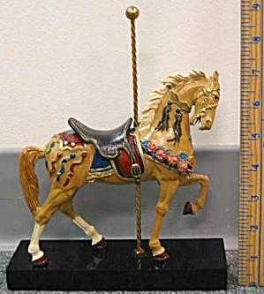 HAMILTON COLLECTION ART OF THE CAROUSEL #1 LEAD HORSE Peter N. Cozzolino King Stander (Image1)