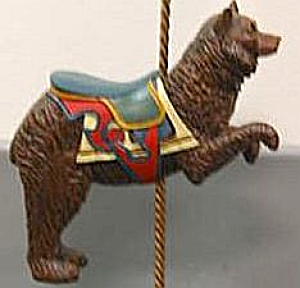HAMILTON COLLECTION ART OF THE CAROUSEL #6 DANCING BEAR Peter N Cozzolino bruin brown (Image1)