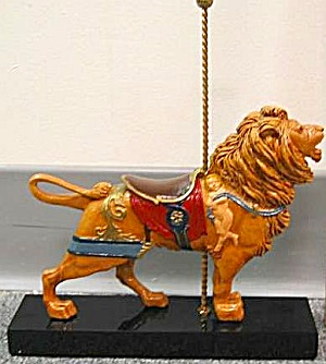 HAMILTON COLLECTION ART OF THE CAROUSEL #2 MAJESTIC LION Peter N. Cozzolino LE 7500 (Image1)