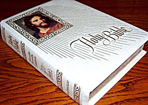 NAB Large Padded Catholic White BIBLE Fireside Family Edition New American Heirloom (Image1)
