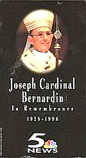 Joseph Cardinal Bernardin In Remembrance 1928 1996 Vhs Funeral Mass Ch5 News Jewel Os