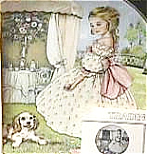 TUESDAY'S CHILD A CHILD'S BLESSING P.Cooper CrownWare Eng China Hamilton Girl Puppy (Image1)
