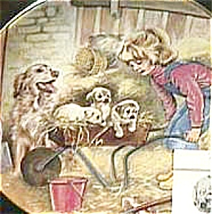 SATURDAY'S CHILD A Child's Blessing Cooper CrownWare Hamilton Girl Dog Litter Royal W (Image1)