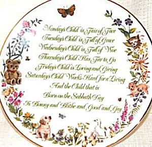 Mondays's Child A Child's Blessing Pam Cooper CrownWare Hamilton Royal Worcester folk (Image1)