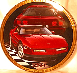 1990 CORVETTE ZR-1 Marc Lacourciere Classic Corvettes '90 RED Maroon Saddle Interior (Image1)