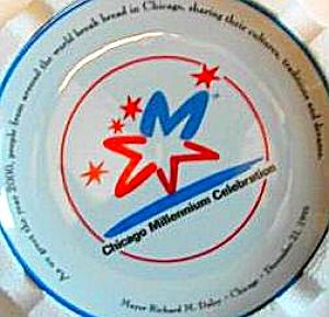 Chicago Millennium Plate Mayor Richard M. Daley Bradex Bradford Exchange Limited 5000 (Image1)