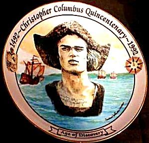 Columbus Quincentenary 500 Yr. 1492-1992 Age of Discovery Portrait DelVecchio Maltese (Image1)