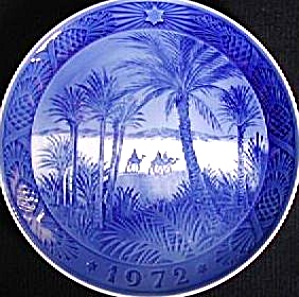 Royal Copenhagen Christmas plate 1972 In the Desert Three 3 wisemen Wise Men Magi Kai (Image1)
