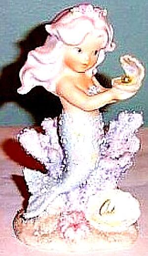 JUNE ENESCO CORAL KINGDOM Pearl #137375 Mermaid Shimmer Stone FIGURINE Birthstone '94 (Image1)