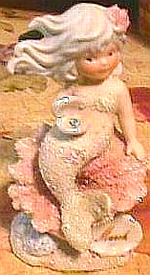 MARCH ENESCO CORAL KINGDOM Aquamarine  #137340 Mermaid Shimmerstone figure birthstone (Image1)