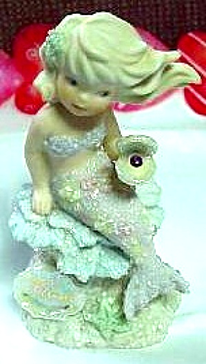 FEBRUARY ENESCO CORAL KINGDOM AMETHYST #137332 Mermaid Shimmerstone Figure Birthstone (Image1)