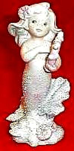 ALLYRIS CORAL KINGDOM # 533068 MERMAID Enesco ™ Shimmer Stone HAMILTON Music Lyre (Image1)
