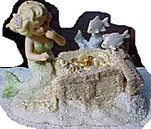 Jewel Coral Kingdom Mermaid Treasure Chest Tropical Series 6 In. Series Numbered Ltd.