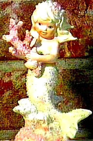Enesco CORAL KINGDOM CYRENA MERMAID 6 inch SHIMMERSTONE SHIMMER STONE Tropical Red 93 (Image1)