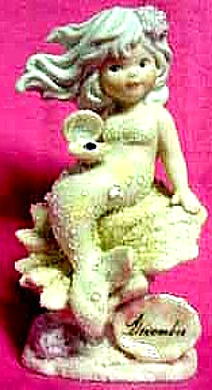 December Enesco Coral Kingdom Turquoise Mermaid Shimmerstone Figure 137488 Birthstone