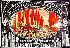 1934 CHICAGO CENTURY OF PROGRESS Main Street PLAQUE SEARS Roebuck Tower (Image1)