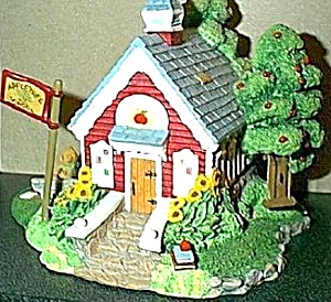Appletree Schoolhouse Cherished Teddies Village Teddie P. Hillman HAMILTON Mail Order (Image1)