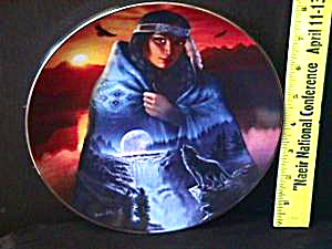 Cloak of VISIONS IN A FULL MOON Andrew Farley Hamilton Indian Native American Woman (Image1)