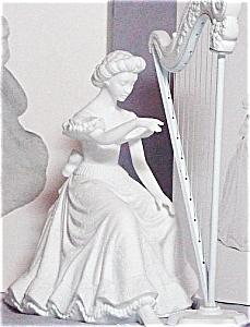 1994 Winter Silhouette Treasures Christmas Concerto Harpist #78468 7846-8 2 PC Lampli (Image1)