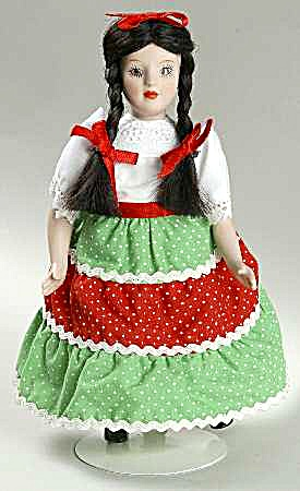 Danbury Mint Porcelain Dolls Of The World Maria Representing Mexico Collection #5