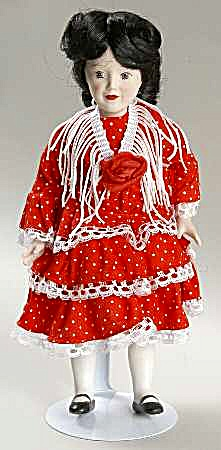 DANBURY MINT porcelain DOLLS OF THE WORLD CARMEN representing SPAIN COLLECTION #6 (Image1)