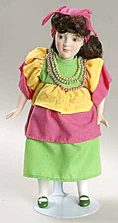 DANBURY MINT porcelain DOLLS OF THE WORLD BONITA representing BRAZIL COLLECTION #11 (Image1)