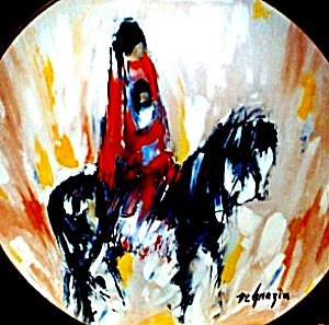 #1 Morning Ride Western Series Collectible Plate Ted Degrazia Horses Fairmont Artists (Image1)
