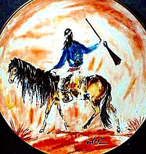 #3 APACHE SCOUT Western Ted Degrazia Indian Horse Bradford Bradex 84-F4-30.3 Fairmont (Image1)