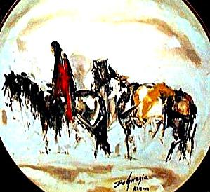 ALONE Western Degrazia Cowboy Horse Bradford Bradex 84-F4-30.4 Fairmont Artists World (Image1)